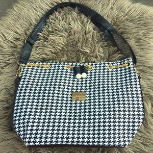 Jiueryi houndstooth pouch-style shoulder bag NWOT